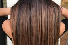 capelli lisci castani
