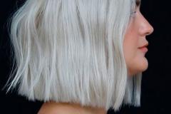 capelli mossi platino