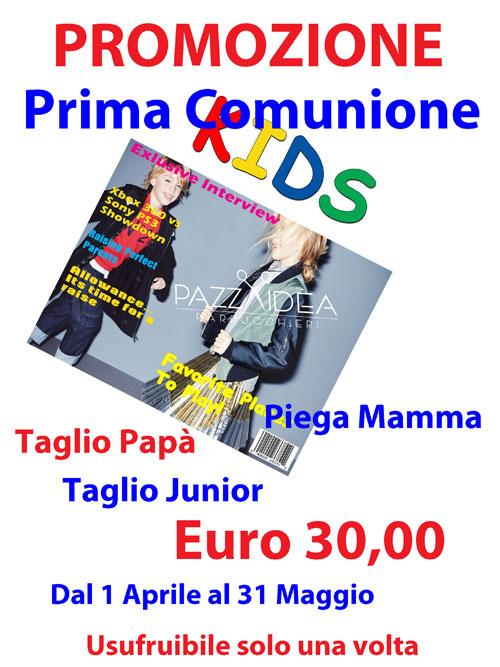 Acconciature Prima Comunione Roma- Promozione Parrucchiere Roma Tuscolana Pazza Idea Parrucchieri