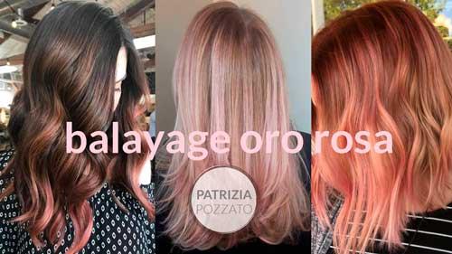 Balayage Oro Rosa Tendenze Colore Capelli 2018 Pazza Idea