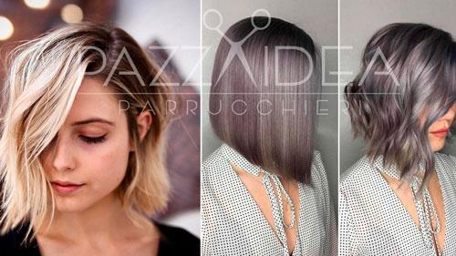 Foto tagli di capelli asimmetrici