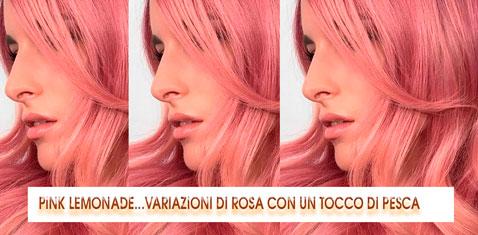 Pink Lemonade: Capelli Rosa Con Un Tocco Di Pesca