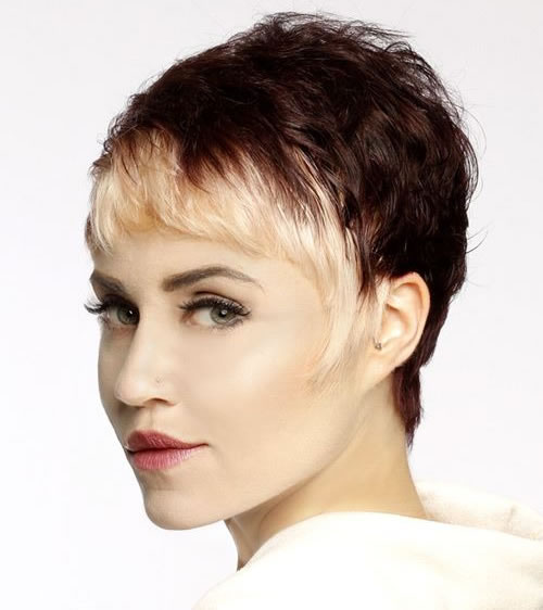 Ombre Very Short Pixie Cut for Fine Hair