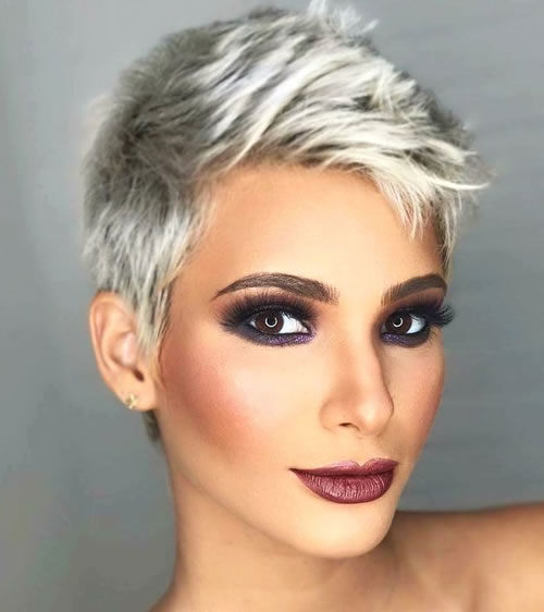 Platinum Pixie Hairstyles for Women with Long Face