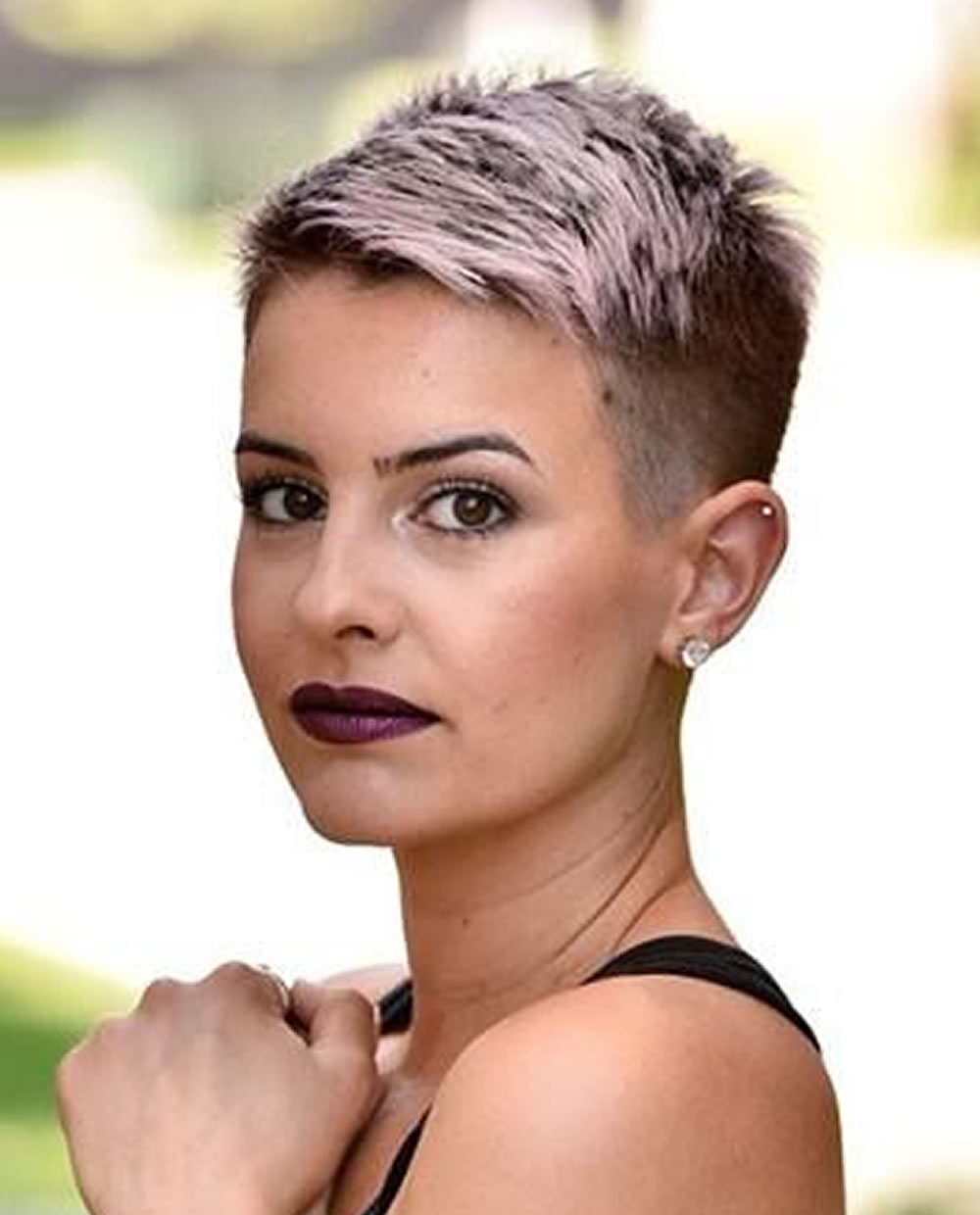 Super short pixie haircut 2019