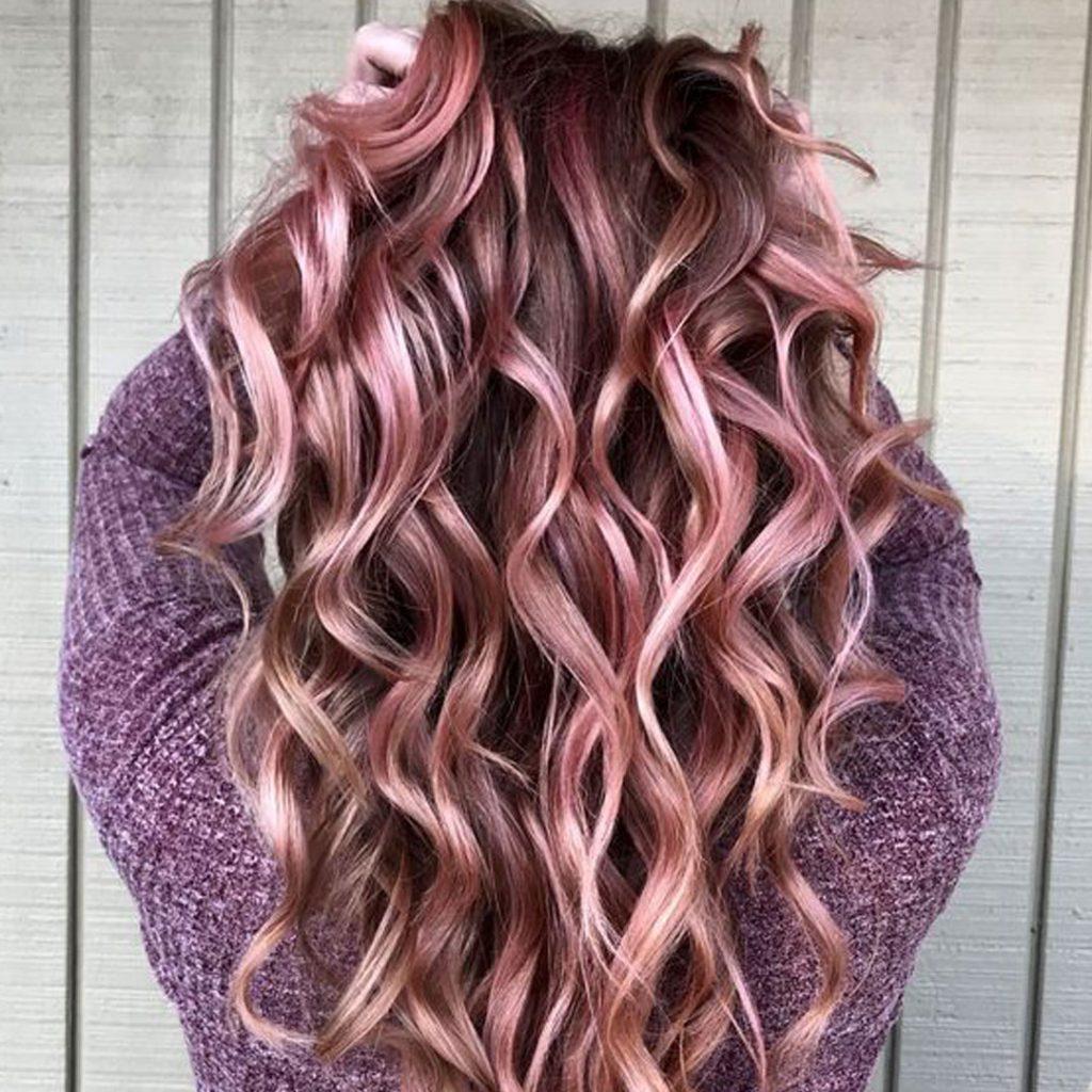 capelli rosa oro