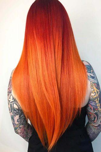 capelli rosso arancio
