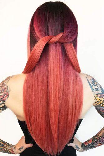 capelli nero rossi
