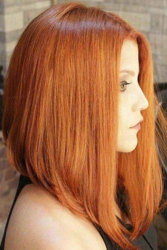 capelli color rame sottile