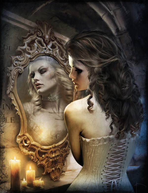 colore capelli allo specchio