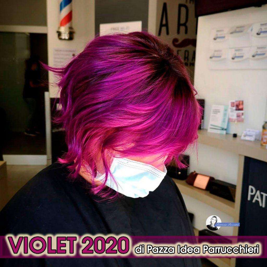 capelli viola.
