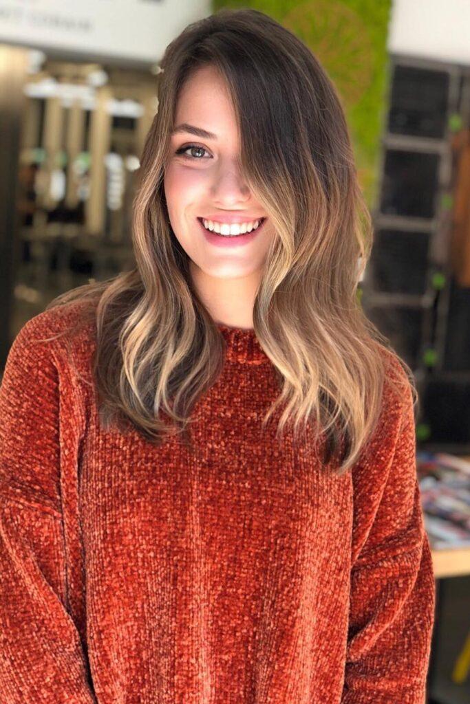 capelli color rame inverno.
