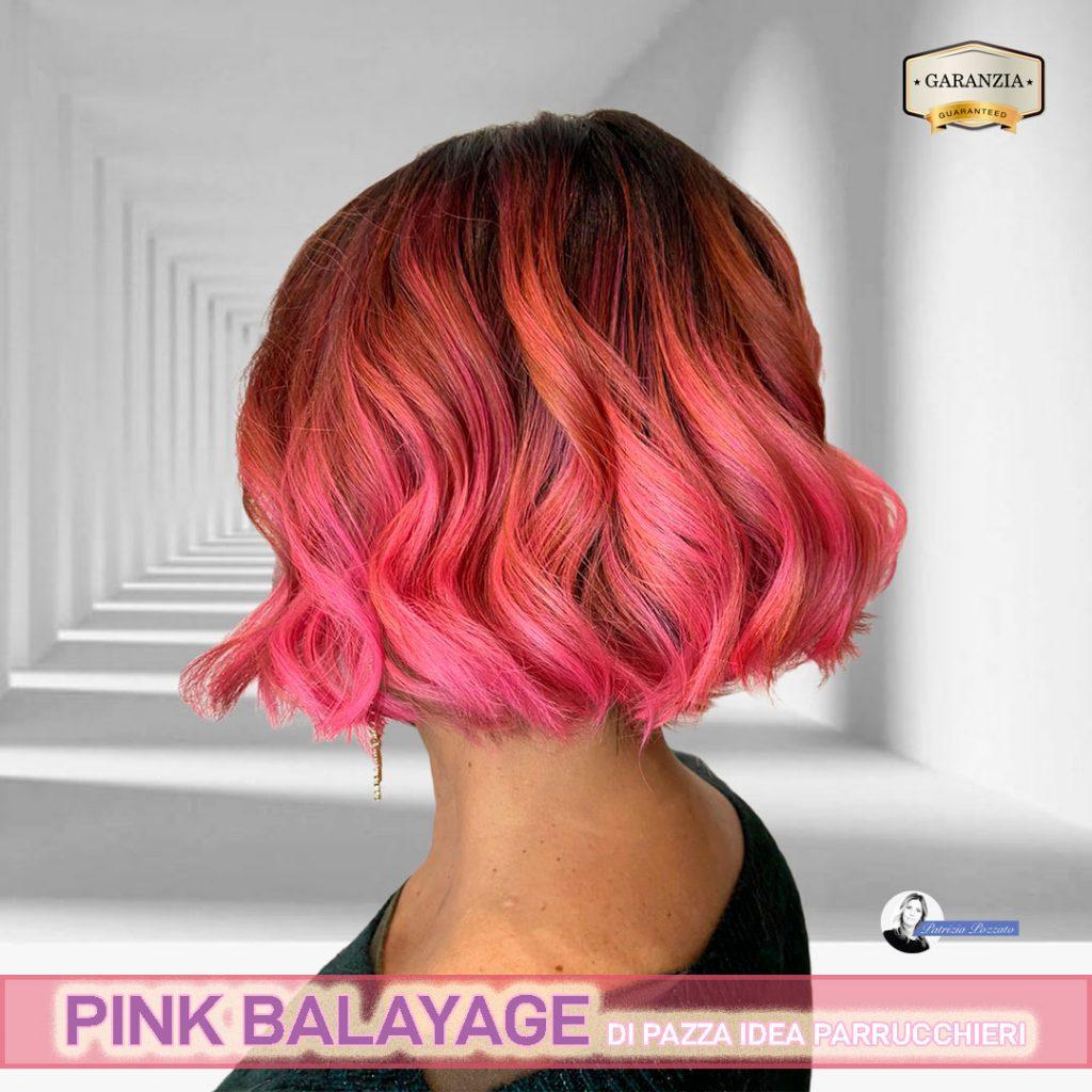 capelli rosa balayage.