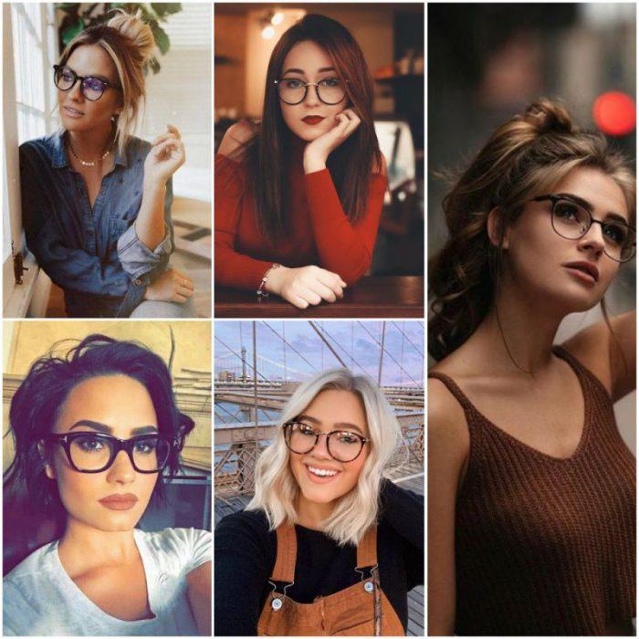 tagli capelli per donne con gli occhiali da vista.