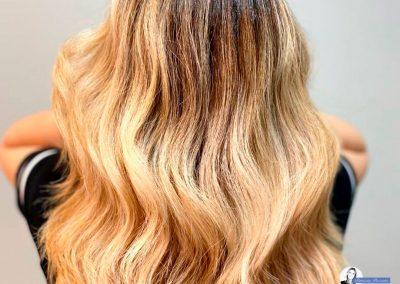 balayage capelli biondi.