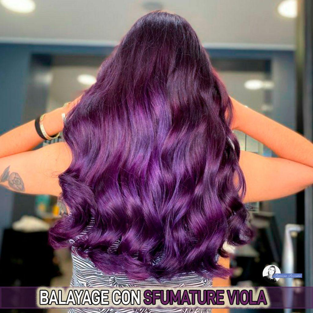 violet balayage.