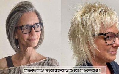 8 tagli di capelli per donne over 50 con occhiali